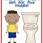 Hey piddle piddle, aim for the middle! {FREE POSTER}