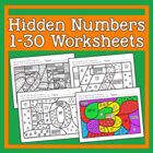 Hidden Numbers 1-30 Worksheets