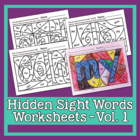 Hidden Sight Words Worksheets - Sing & Spell Vol. 1