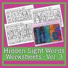 Hidden Sight Words Worksheets - Sing & Spell Vol. 3