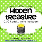 Hidden Treasure CVC Read & Write the Room Literacy Center