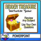 Hidden Treasure PowerPoint Review Game - For Any Question Set