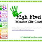 High Five! Behavior Clip Chart