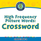 High Frequency Picture Words: Crossword - MAC Gr. PK-2