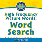 High Frequency Picture Words: Word Search - PC Gr. PK-2