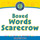 High Frequency Sight Words: Boxed Words Scarecrow - NOTEBO