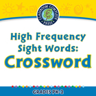 High Frequency Sight Words: Crossword - NOTEBOOK Gr. PK-2