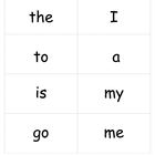 High Frequency Word List A, Sight Words, TC Word List A