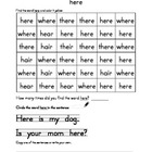 High Frequency Word Packet- here, was, said, little, they