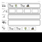 High Frequency Word &quot;the&quot; Read, Glue, Write, Illustrate, a