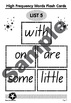 High Frequency Words 1: List 5 - with, on, are, some & little