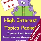 High Interest Informational Reading Selections and Questio