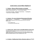 &quot;High Performance Social Science Lesson Plan Template&quot;
