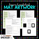 High School Art Lesson Plan. Matting Artwork. Lesson and W