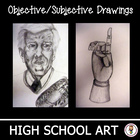 High School Art Unit.  Objective and Subjective Drawing Le