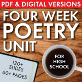 High School Poetry Unit Plan, FOUR FULL WEEKS of Dynamic,