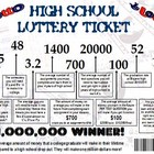 High School lottery ticket- Inspirational toward graduation