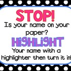 Highlight your name!!!