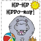 Hip Hip Hippo-Ray! Writing Activity