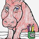 Hippo Teacher Cartoon Clip Art