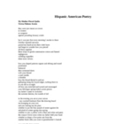 Hispanic American Poetry Handout