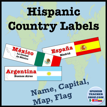 Hispanic Countries Info Labels