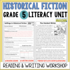 Historical Fiction Reading & Writing Unit Grade 5: 40 Deta