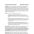 Historical Impact Research Project: 13-page Unit for Paper