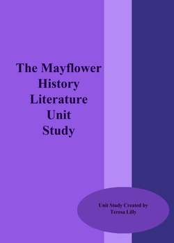 History: Mayflower History Literature Unit Study