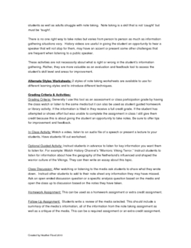 History Media Review Worksheet & Activity