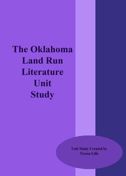 History: Oklahoma Land Run History Literature Unit Study