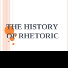 History of Rhetoric (public speaking) PPT