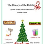 History of the Holidays - Expository Reading and KWLS chart