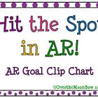 Hit the Spot in AR! Multi-Color Polka Dot AR Goal Clip Chart