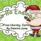 Ho-Ho Endings Literacy and Math Freebie