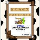 Spanish Howdy Pardner Literacy and Math Fun Activities!