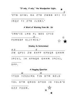 Holes: 12 Cryptograms--Encoded Quotations from the Story!
