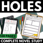 Holes: Complete Unit with Questions, Vocab, Projects, and
