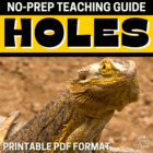 Holes Literature Guide: Common Core Aligned Teaching Guide