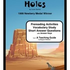 Holes     Prereading/Vocabulary/Short Answer Questions