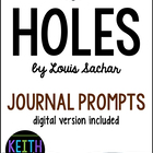 Holes (by Louis Sachar): 40 Journal Prompts