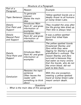 Holes -Paragraph Unit & Persuasive Writing