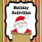 Holiday Activities {Literacy and Math Activities}