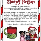Christmas Activity: Sleepy Potion (hot chocolate) FREE {Gr