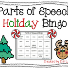 Holiday Bingo: Parts of Speech Bingo!