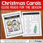 Holiday Carols Fluency & Close Reading Passages {Simply Kinder}