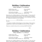 Holiday Celebration Letter