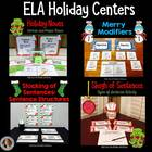 Holiday Centers for Language Arts