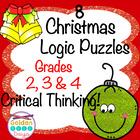 Holiday Christmas Themed Logic Puzzles for Beginners! Grad