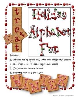 Holiday Cookie Alphabet Fun!!!